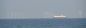 Another shot of a British offshore wind farm